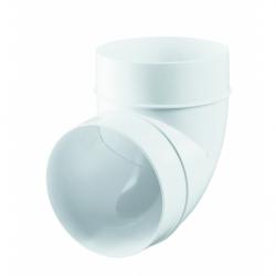 Cot PVC 90gr diam 100mm - Accesorii ventilatie tubulatura pvc si conectori