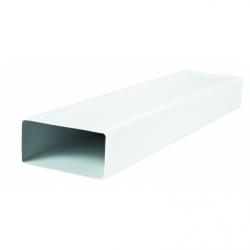Tub rigid rectangular PVC 60X120 mm, L=1000 mm - Accesorii ventilatie tubulatura pvc si conectori