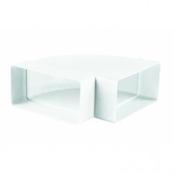 Cot orizontal 90grade pentru tubulatura rectangulara 60*204 - Accesorii ventilatie tubulatura pvc si conectori
