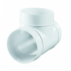 Conector teu diam 125mm - Accesorii ventilatie tubulatura pvc si conectori