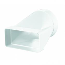 Conector rectangular 55x110 la rotund diam 100 mm - Accesorii ventilatie tubulatura pvc si conectori