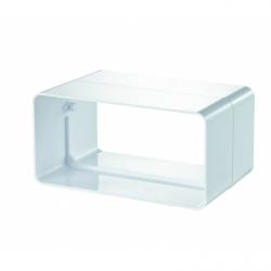 Conector tubulatura rectangulara 60x120mm - Accesorii ventilatie tubulatura pvc si conectori