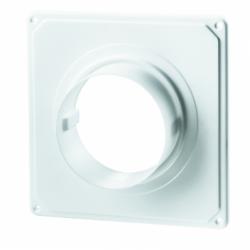 Placa fixare perete cu flansa PVC, ventilatie, diam 125mm - Accesorii ventilatie tubulatura pvc si conectori