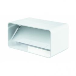 Conector cu clapeta antiretur, tub rectangular PVC, diam 204*60mm - Accesorii ventilatie tubulatura pvc si conectori
