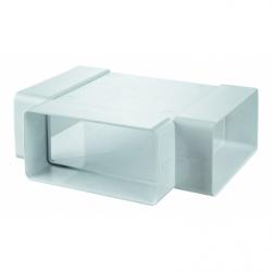 Teu 90 grade, tub rectangular PVC, 204*60 - Accesorii ventilatie tubulatura pvc si conectori