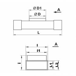 Conector T 2x55*110 - 1xdiam 100mm - Accesorii ventilatie tubulatura pvc si conectori