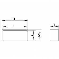 Racord conectare tub rectangular PVC 110*55mm - Accesorii ventilatie tubulatura pvc si conectori