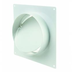 Conector cu valva antiretur si placa 150mm - Accesorii ventilatie tubulatura pvc si conectori