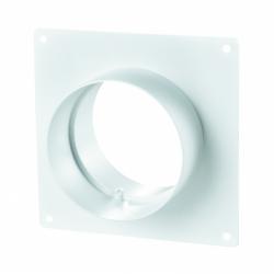 Placa fixare perete cu flansa diam 125mm - Accesorii ventilatie tubulatura pvc si conectori