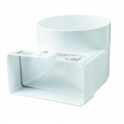 Cot circular-rectangular diam 100,90grade, 60*204mm - Accesorii ventilatie tubulatura pvc si conectori