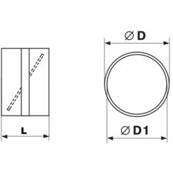 Conector cu clapeta antiretur diam 200mm - Accesorii ventilatie tubulatura pvc si conectori