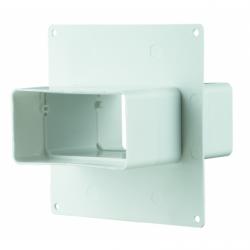 Placa fixare perete cu conector 60x204mm - Accesorii ventilatie tubulatura pvc si conectori