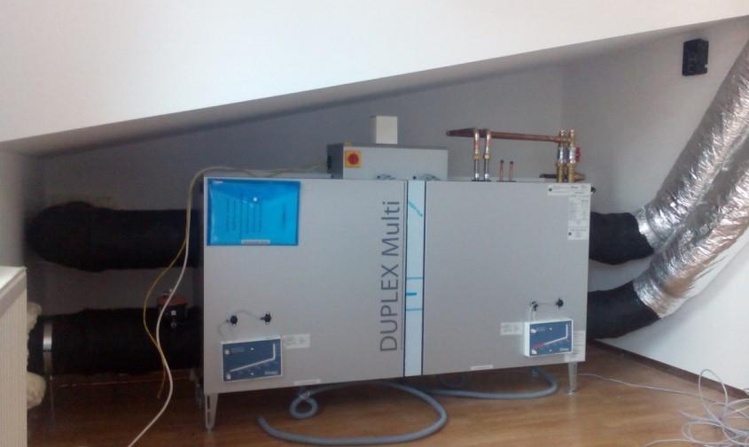Ventilatie Atrea cu Duplex 500 Multi pentru o locuinta familiala din orasul Baicoi - Ventilatie Atrea