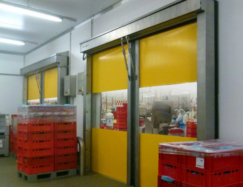 Usi rapide din PVC cu deschidere pe orizontala - Usi rapide din PVC cu deschidere pe