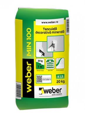Tencuiala decorativa minerala - weber MIN100 - Tencuieli decorative