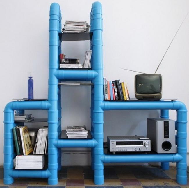 Rafturi din tevi PVC - Intrebuintari inedite pentru tevile din PVC