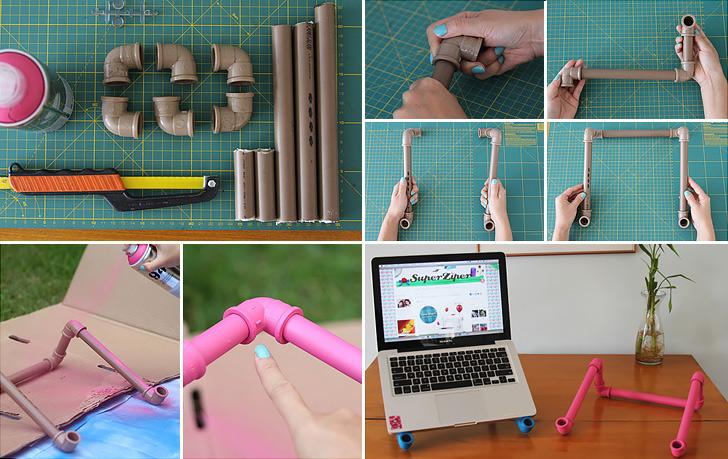 Suport pentru laptop - Intrebuintari inedite pentru tevile din PVC