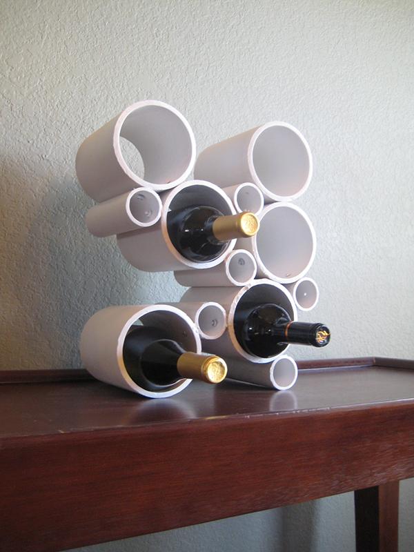 Suport pentru sticle de vin - Intrebuintari inedite pentru tevile din PVC