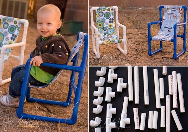 Scaune pentru copii - Intrebuintari inedite pentru tevile din PVC