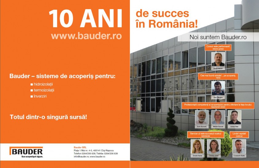 BAUDER - 10 ani de succes in Romania - BAUDER - 10 ani de succes in