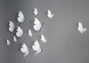 Fluturi 3D Albi Rotunjiti - Fluturi 3D