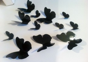 Fluturi 3D Negri Rotunjiti - Fluturi 3D