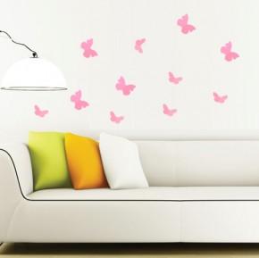 Fluturi 3D Roz Rotunjiti - Fluturi 3D