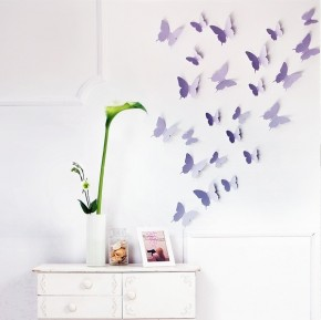 Fluturi 3D Violet Lavanda - Fluturi 3D