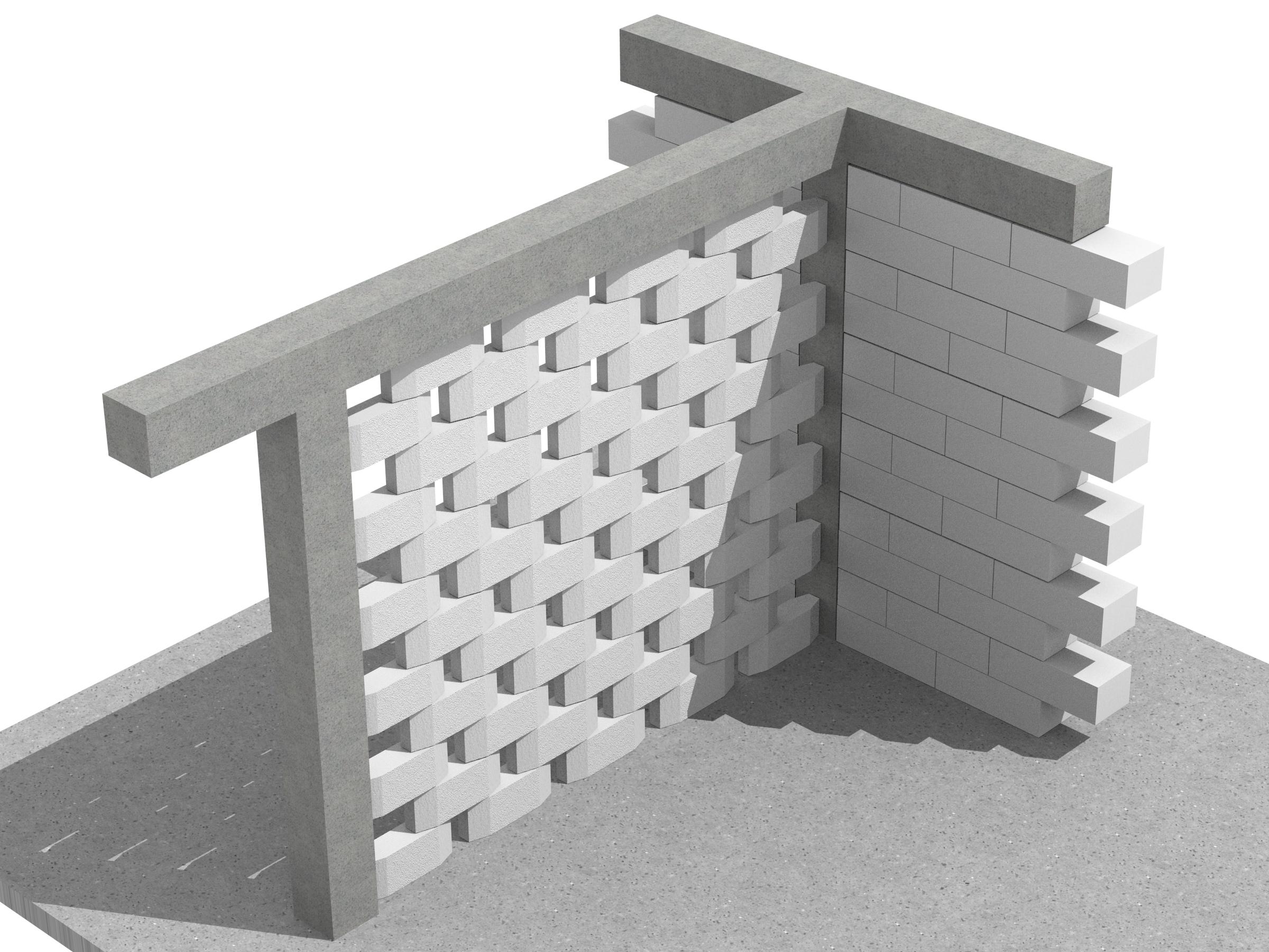 Detaliu perete traforat - Pereti de compartimentare decorativi