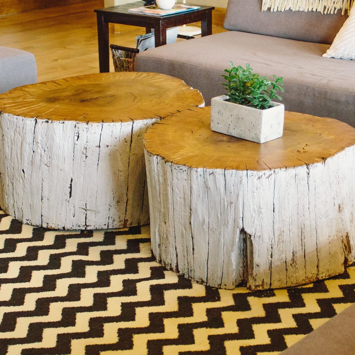 Mese de cafea din trunchiuri de copaci - Stump decorating ideas inspiration from nature ...