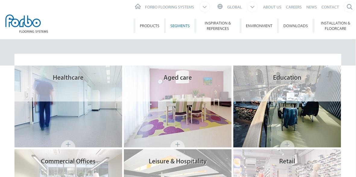 Forbo Flooring Systems anunta lansarea noului website 1 - Forbo Flooring Systems are placerea de a
