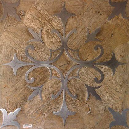 Parchet din lemn cu intarsii din alama, 450 eurp/mp - Ce inseamna luxul?