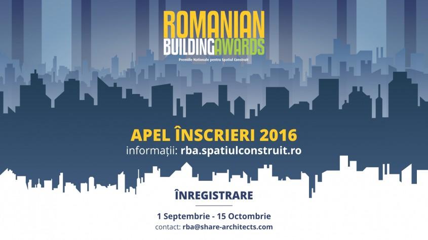 Apelul de inscriere la Premiile Romanian Building Awards lansat pe 1 septembrie - Apelul de inscriere