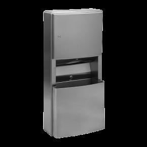 Dispenser de prosoape de hartie din otel inox cu cos de gunoi - SLZN 21 - Cosuri de gunoi