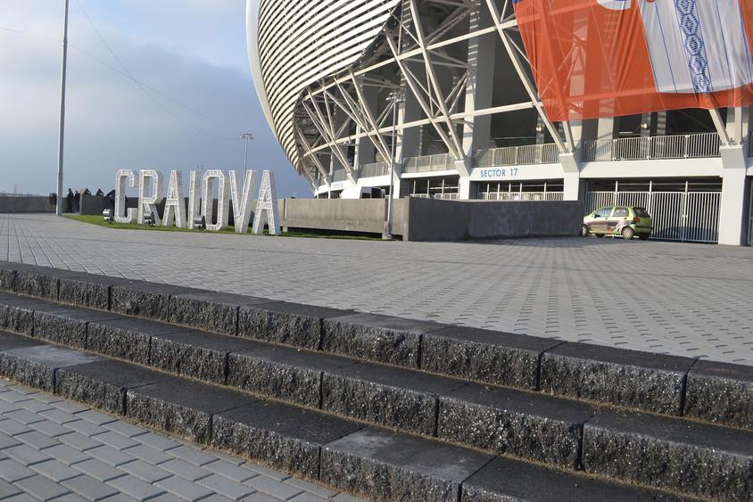 Stadionul Ion Oblemenco, Craiova - Elis Pavaje a contribuit la amenajarea noului stadion din Craiova