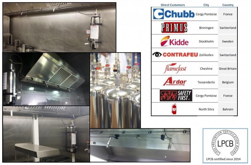 Referințe din Europa la Sistemul de protecție și suprimare incendiu conceput pentru hote / bucătării profesionale - Referințe din Europa la Sistemul de protecție și suprimare incendiu conceput pentru hote / bucătării profesionale