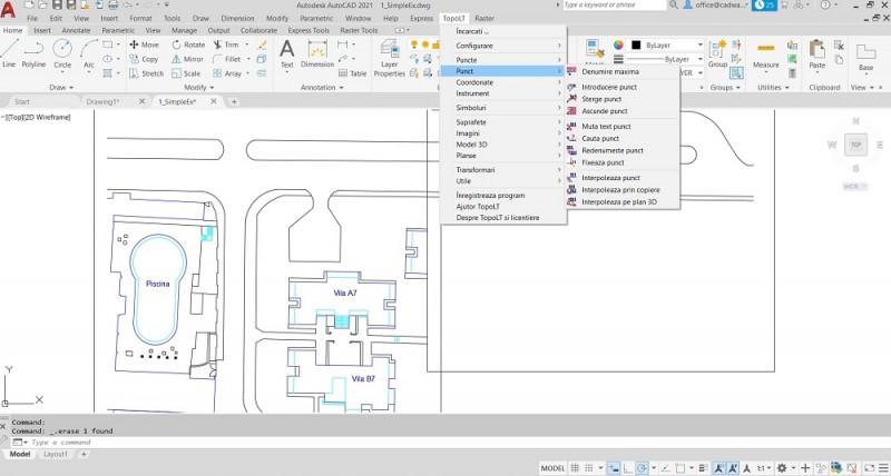Aplicatia contine functii pentru interpolarea punctelor introducerea de puncte noi si cautarea acestora in desen mutarea