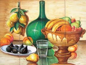 Decor cu fructe si apa - Faianta pentru bucatarie