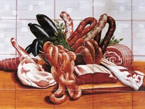 Decor plita gourmet carne - Faianta pentru bucatarie