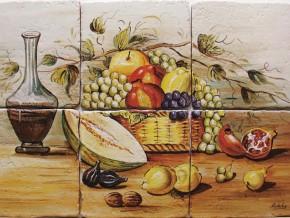Decor plita rustic cu fructe - Faianta pentru bucatarie