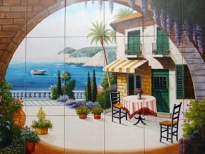Terasa pe malul marii - Faianta pentru bucatarie