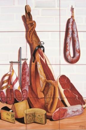 Decor gourmet spaniol cu jamon si branzeturi - Faianta pentru bucatarie