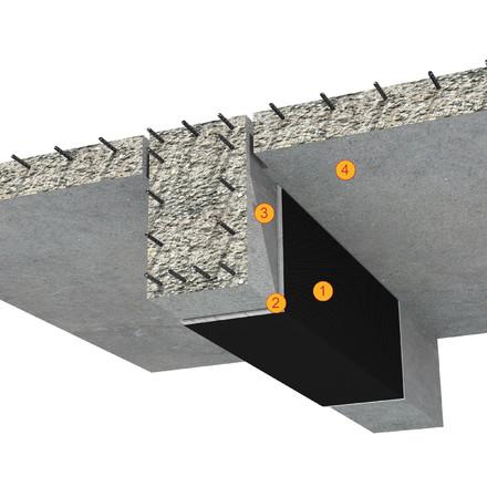 SikaWrap - detaliu de aplicare tesatura din fibre de carbon - Detalii de aplicare SikaCarboDur si SikaWrap