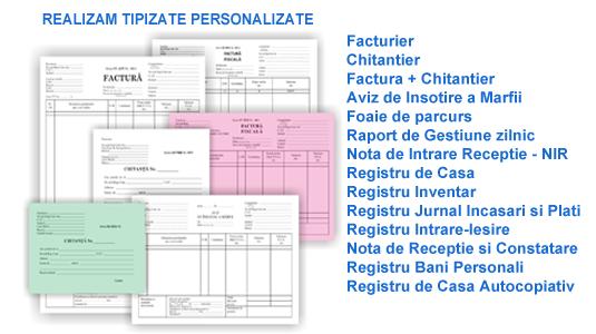 Tipizate personalizate pentru facturi, chitantiere, avize - Tipizate personalizate pentru facturi, chitantiere, avize