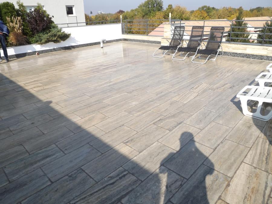 Lucrarea finalizata - Hidroizolarea unei terase placate cu travertin