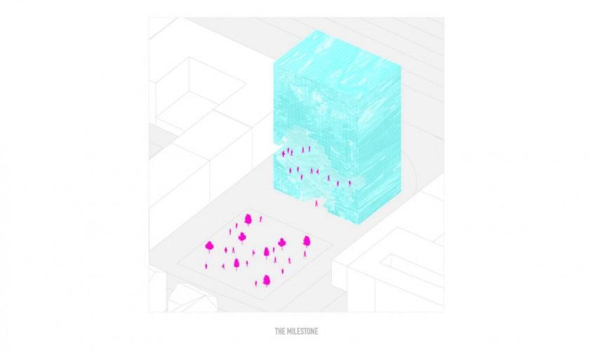 The Milestone - planuri - Noua clădire a biroului MVRDV va semăna cu un bloc uriaș