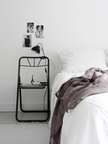 Scaun in loc de noptiera - Cu ce poți înlocui o noptieră? Idei pentru un dormitor deosebit