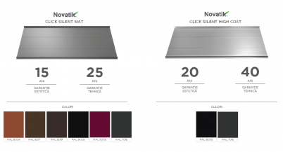 Garantie Culori - Novatik CLICK SILENT Mat si HighCoat - Culori Novatik Silent