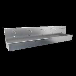 Lavoar tip jgheab din otel inox cu 3 baterii cu senzor - SLUN 81ET - Lavoare tip jgheab din otel inox