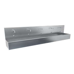 Lavoar tip jgheab din otel inox cu 4 baterii cu senzor - SLUN 82ET - Lavoare tip jgheab din otel inox